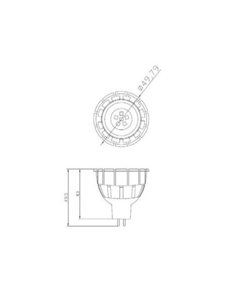 Bombilla Led MR16 -6W- 60º al mejor precio | LeonLeds Iluminación