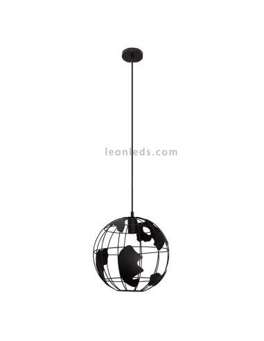 Lámpara de Techo Negra Mundo