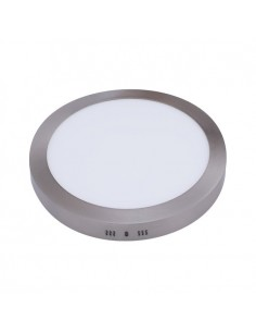 Downlight Redondo Superficie Niquel -18W- Serie Pegaso