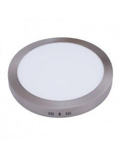 Downlight Redondo Superficie Niquel -24W- Serie Pegaso