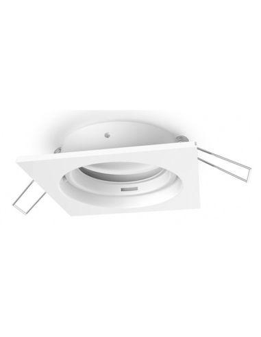 Aro Empotrable Orientable GU10 -Cuadrado- Serie Inteca | LeonLeds
