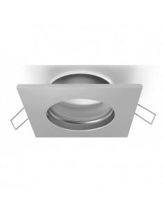 Aro Fijo Empotrable  Cuadrado para Bombilla LED Dicroica GU10  Serie Inteca Blanco o Niquel | LeonLeds