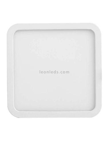 Downlight LED cuadrado empotrable extra grande Saona 22,5Cm y 24W | LeónLeds Iluminación | Downlight IP20