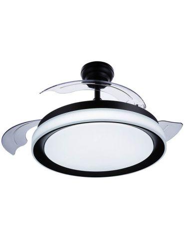 Ventilador de techo LED con aspas plegables Negro Bliss 8719514334465 Philips | LeonLeds