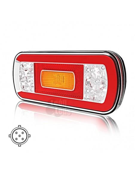Piloto Trasero LED 6 funciones para remolque de coche Fristom FT130 Funciones 12/24V | LeonLeds Iluminación