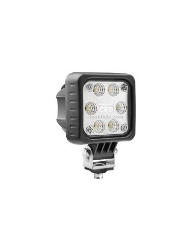 Faro Cuadrado LED para maquinaria Agrícola o industrial | Faro cuadrado LED Wesem | LeonLeds Iluminación