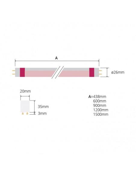 Tubo LED Megalux Gold para Reposteria Quesos Jamones enteros pan de Leds Factory | LeonLeds