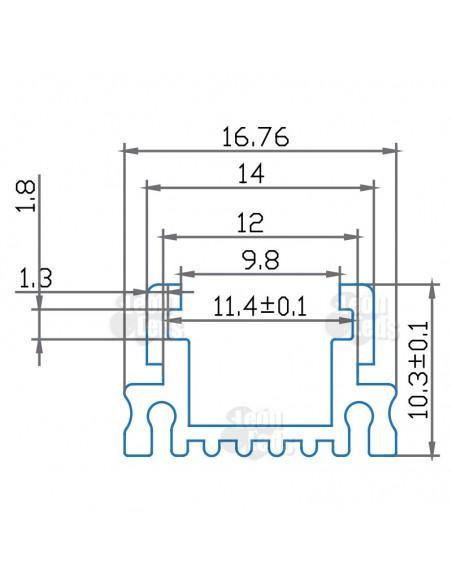 Perfil Aluminio Cuadrado -Tira-