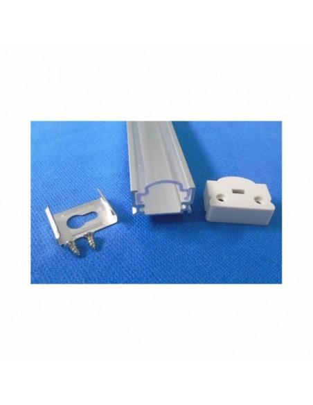 Perfil Aluminio Ovalado -Tira Led-