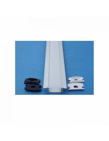 Perfil Aluminio Plano -Tira Led-