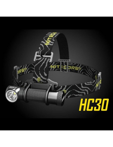 Linterna Frontal LED Nitecore HC30 Pontente De cabeza para beteria 18650 recargable Linterna potente de cabeza o de mano | LeonL