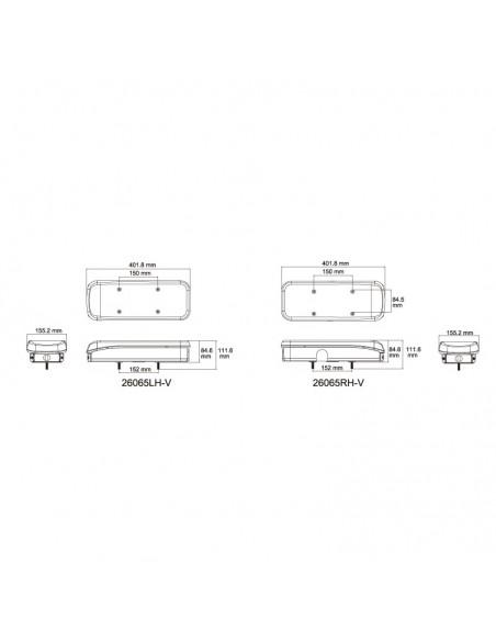 Piloto Trasero LED con Triángulo 7 funciones para remolque de camión o bañera plataforma efecto Neon | LeonLeds Iluminación
