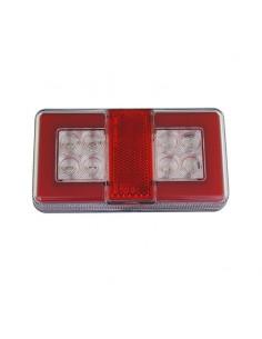 Piloto Trasero LED  de 4 funciones efecto neon pequeño rectangular para remolque de Lucidity 26042 | LeonLeds Iluminación