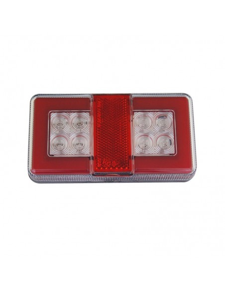 Piloto Trasero LED  de 4 funciones efecto neon pequeño rectangular para remolque de Lucidity 26042   LeonLeds Iluminación