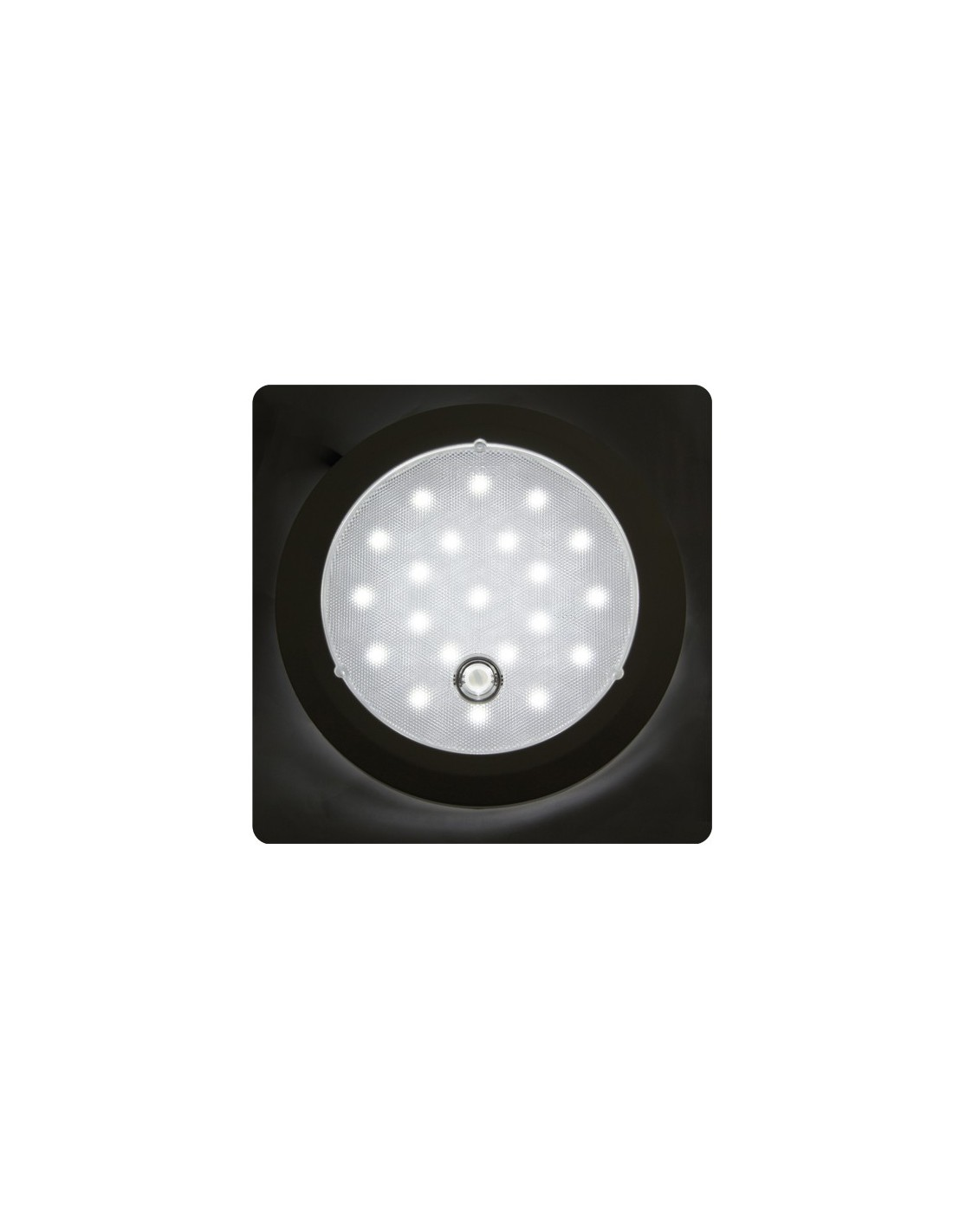 L mpara led interior redonda para autom viles for Lamparas led interior