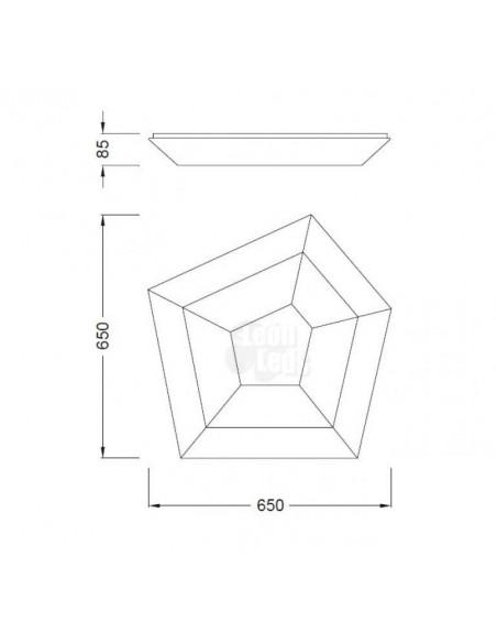 Plafón de techo LED 28W modelo City de mantra de diseño moderno para instalar en superficie | LeonLeds Iluminación