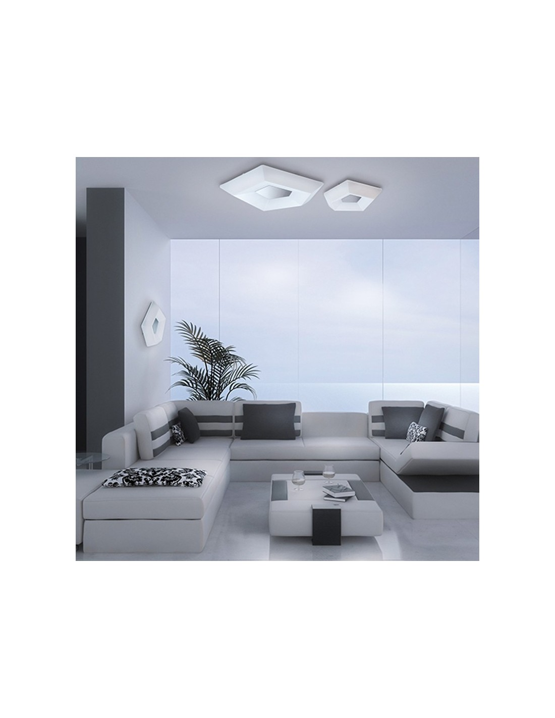 Plaf n de techo moderno led de superficie serie city 28w - Apliques techo led ...
