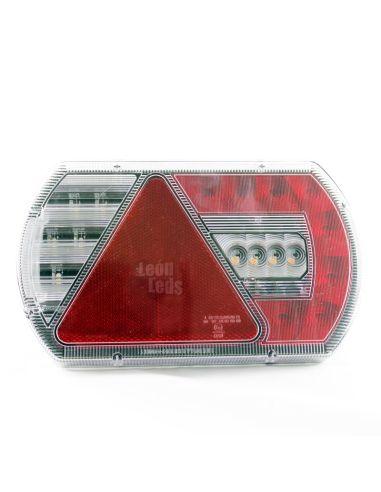 Piloto Trasero LED con Triángulo 12/24V Lucidity 26044 para Maquinaria Agrícola Homologado 12-24V   LeonLeds