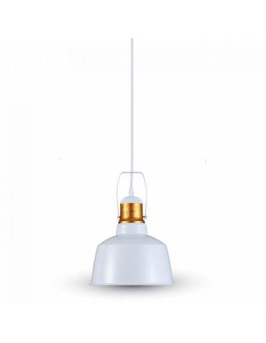 Lámpara de Techo Blanca y Dorada Vintage 3729 Vtac Supensión | LeonLeds