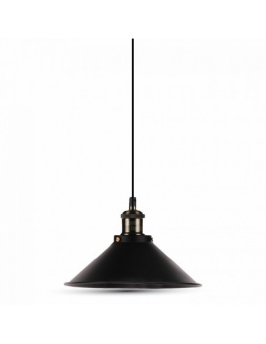 Lámpara Colgante de estilo Vintage negra mate