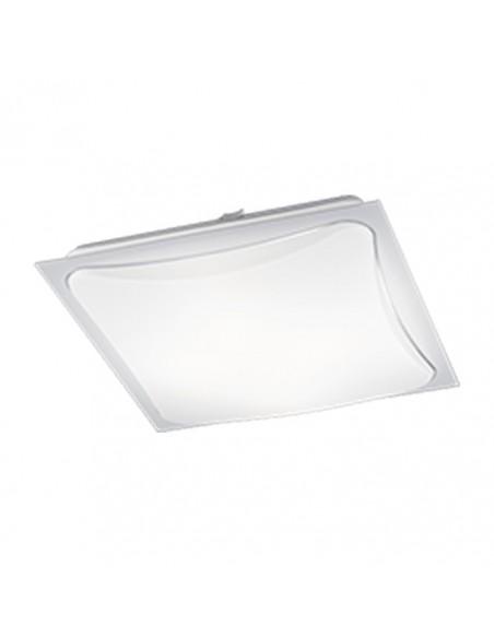 Plafón LED de techo cuadrado de color blanco y metal para instalar en superficie | LeonLeds Iluminación