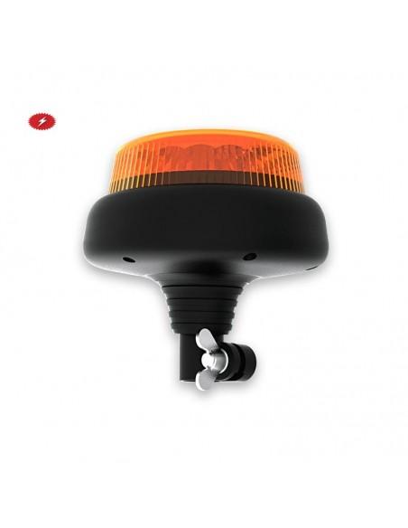 Rotativo LED Extraplano Palomilla Din 14620 Conexión redonda con Chip CREE Multivoltaje Ambar 1 destello Hermetico Fristom FT100