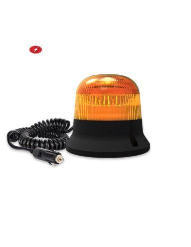 Rotativo LED Magnético y conexión de mechero con 3 metros de cable  | LeonLeds Rotativo LED