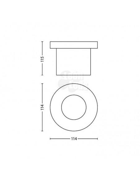 Foco Empotrable Exterior -Moss- Philips Aceron Inox IP67 LED Robusto redondo Jardín | LeonLeds