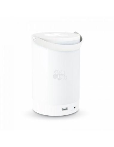 Flexo LED recargable 6W -Blanco- Lámpara de Mesa USB Portatil LED Recargable para carabanas Barcos | LeonLeds