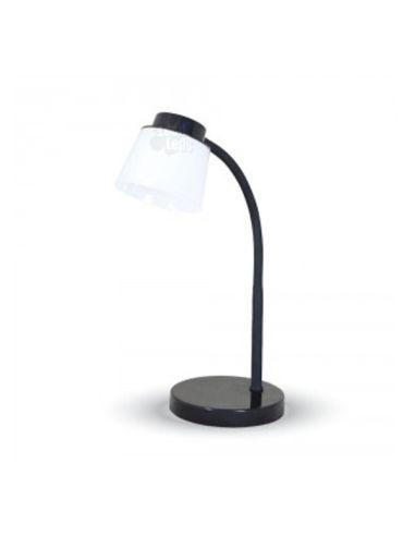 Flexo de mesa LED 5W -Negro- Metalico Regulable Touch diseño moderno 7052 para Estudiar flexo de escritorio | LeonLeds