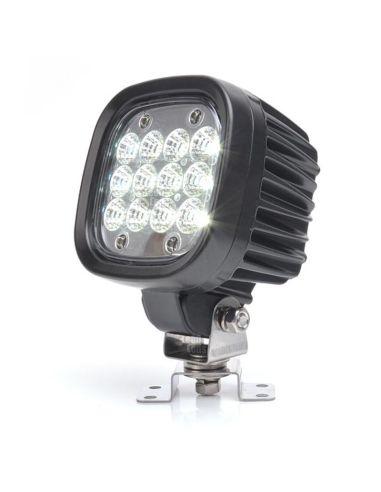 Faro LED de trabajo cuadrado potente de Was   Faro LED para tractor de calidad barato   LeonLeds Iluminación