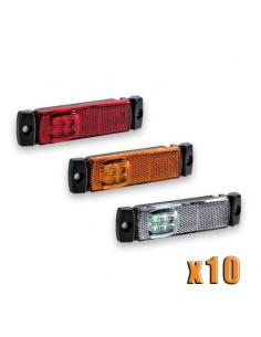 Bolsa 10 Pilotos de posición LED para remolque de Galibo Blanco, Rojo, Naranja | LeonLeds