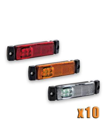 Bolsa 10 Pilotos de posición LED para remolque de Galibo Blanco, Rojo, Naranja   LeonLeds