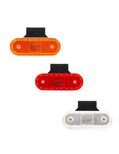 Piloto Lateral de Galibo LED Was Blanco Rojo Naranja con soporte 535Z 12v y 24v para camión piloto de galibo laterales| LeonLeds