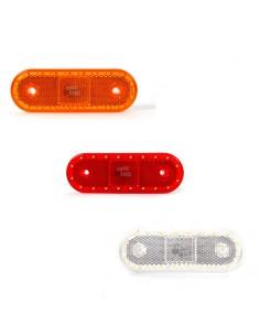 Piloto Lateral LED Was para remolques plataformas camiones Ambar Blanco y Rojo Luz Led y reflectante| LeonLeds