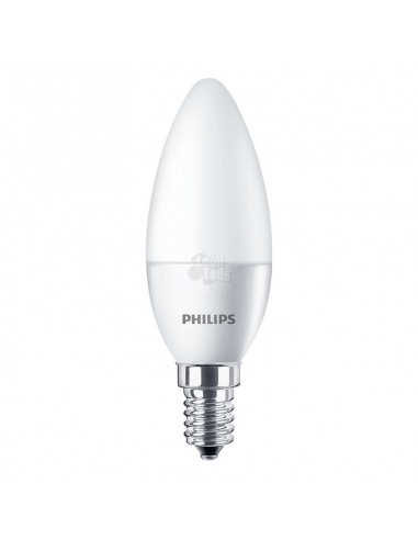 Bombilla LED Philips E14 Vela 5.5W   Bombilla Vela LED E14 5.5W B35 Equivalente a 40W    LeonLeds.com
