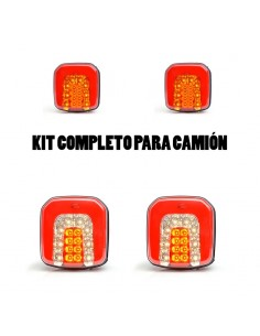 Kit Pilotos Led Cuadrados