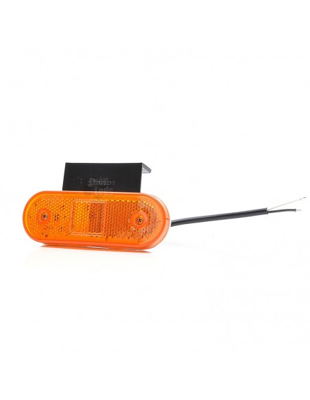 Piloto Lateral LED con LED ambar de posición y intermintente alrededor y reflectante por el centro 12v 24v Was Con Soporte | Leo