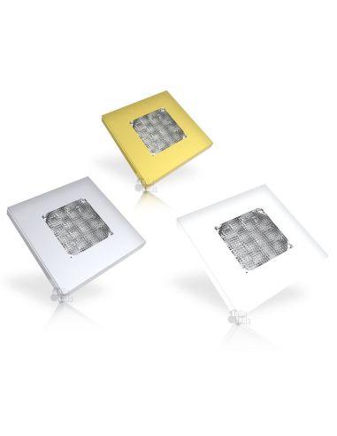 Plafón LED para cuadrado de color Blanco Oro Gris metalizado Empotrable para barco autobus camión taxi grua ambulancia FT-047 LE