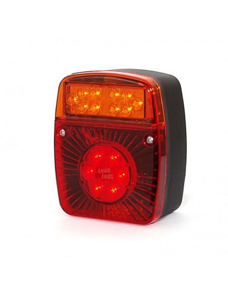 Piloto trasero LED barato economico con 4 funciones rectangular para remolque de coche carro agrícola | LeonLeds Iluminación