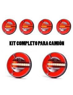 Kit de Pilotos LED redondo traseros para remolque o camión