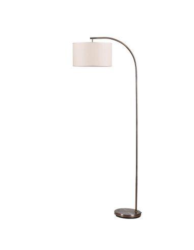 Lámpara de Pie Salón 1XE27 Capri Niquel o Cuero para una bombilla de LED E27 | LeonLEDS