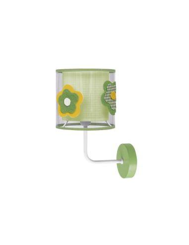 Aplique de Pared Infantil Verde  Serie Flor color Verde | LeonLeds Iluminación Infantil