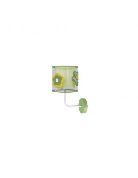 Aplique de Pared Infantil y Juvenil Serie Flor color Verde | LeonLeds