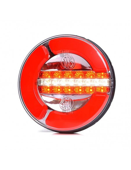 Piloto Trasero Redondo LED 3 Funciones Niebla y Marcha Atras | LeonLeds Pilotos LED