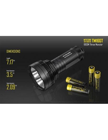 Nitecore TM16GT Linterna LED de largo alcance potente con 5 años de garantía | LeonLeds Iluminación