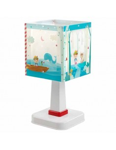 Lámpara de Sobrmesa Infantil Juvenil serie Pinocchio Pinocho 64471 Cuadrada   LeonLeds