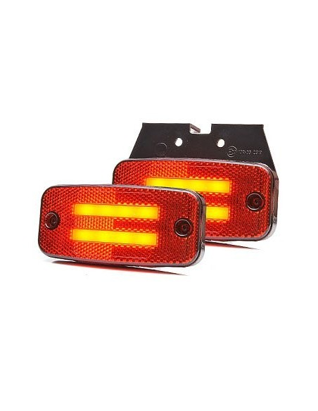 Pilotos LED de Galibo para remolques para camiones LED 24V Camión 12V luces remolque ambar blanca y roja de Was | LeonLeds
