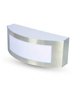 Aplique Exterior Acero Inox y PC 7513 Vtac de pared IP44 Gris y blanco | LeonLeds