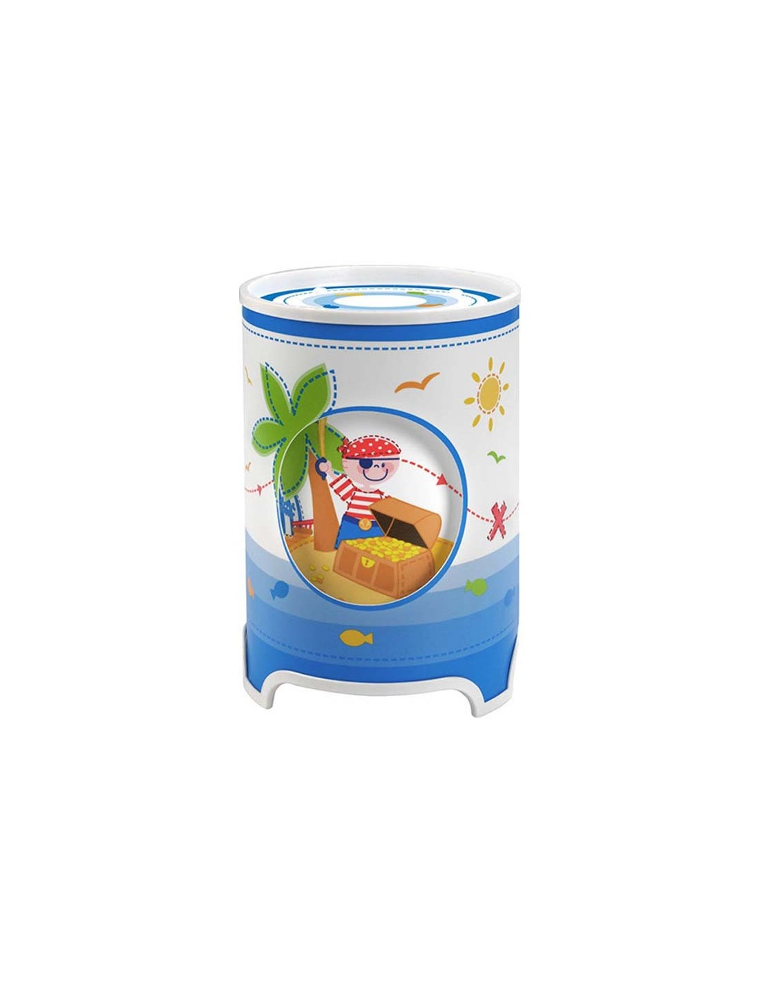 L mpara de sobremesa infantil pirate 60550 dalber for Lampara sobremesa infantil
